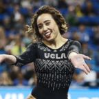 Katelyn Ohashi during an NCAA college gymnastics match, Friday, Jan. 4, 2019, in Los Angeles.
