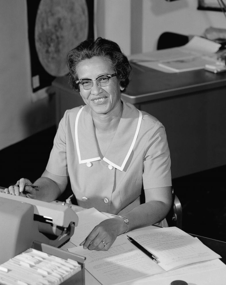 hollywood PHOTO: NASA space scientist, and mathematician Katherine Johnson poses for a portrait at work at NASA Langley Research Center in in Hampton, Va., circa 1966.