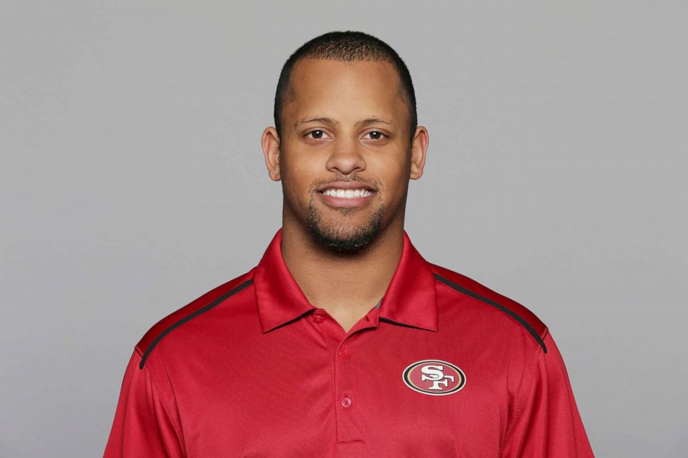 PHOTO:This 2016, file photo shows Keanon Lowe of the San Francisco 49ers NFL football team.