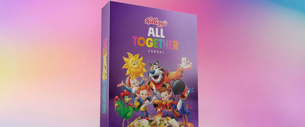 """PHOTO: Kellogg Company partners with GLAAD for Spirit Day, launching eew 2019 edition of """"All Together"""" cereal."""