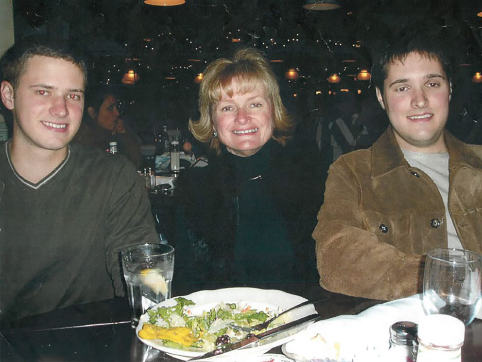 PHOTO: Bart Whitaker, right, is pictured with his mother, Trisha, and brother, Kevin, at his graduation celebration dinner in December 2003. Trisha and Kevin died later that night in an attack planned by Bart.
