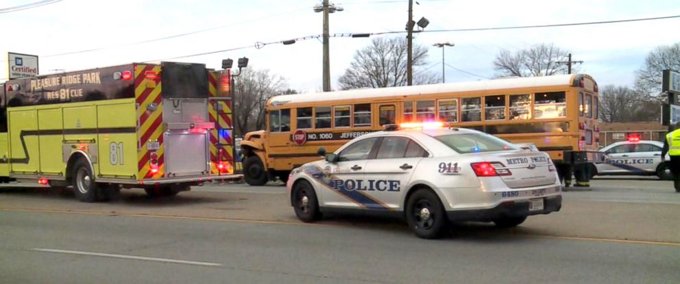41 students suffer minor injuries after 3 school buses crash