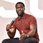 Kevin Hart speaks at Morehouse College on Sept. 11, 2018 in Atlanta.