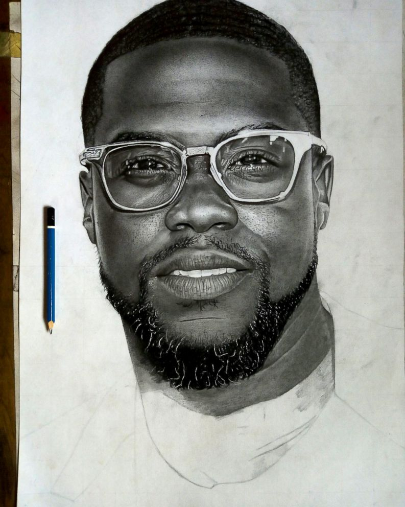 Photo nigerian artist eli wadaba yusuf posted a pencil drawing of kevin hart with hopes
