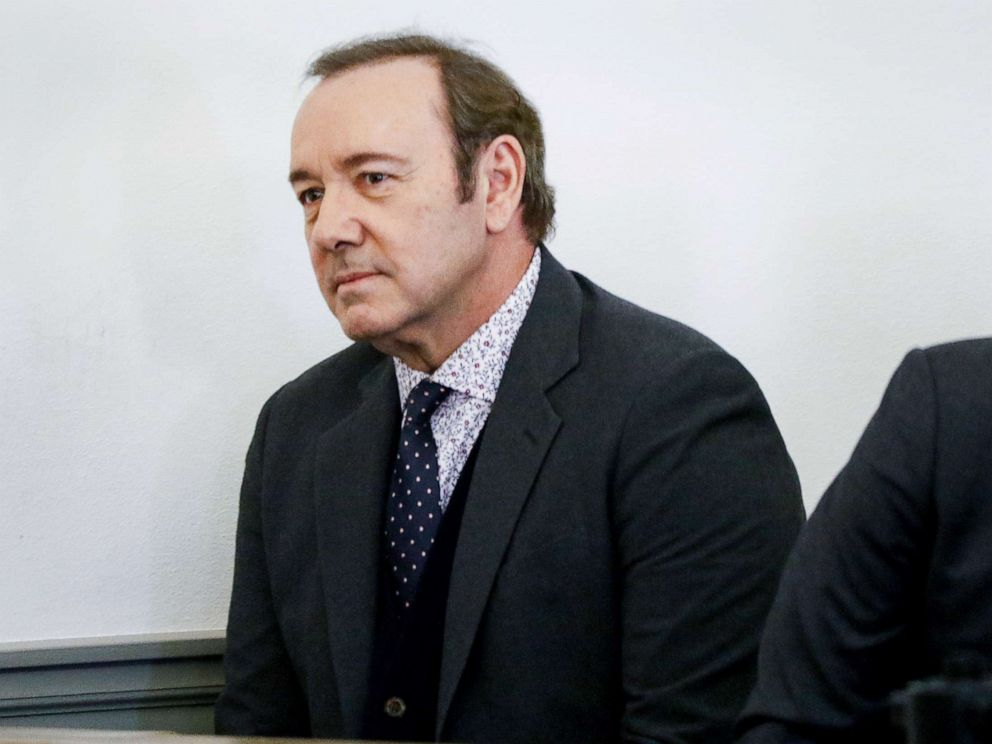 PHOTO: Actor Kevin Spacey attends his arraignment for sexual assault charges at Nantucket District Court on Jan. 7, 2019 in Nantucket, Mass.