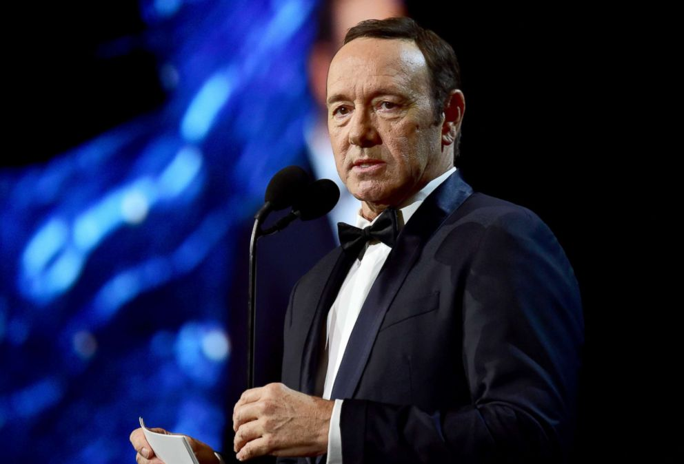 PHOTO: Kevin Spacey speaks on Oct. 27, 2017, in Beverly Hills, Calif.