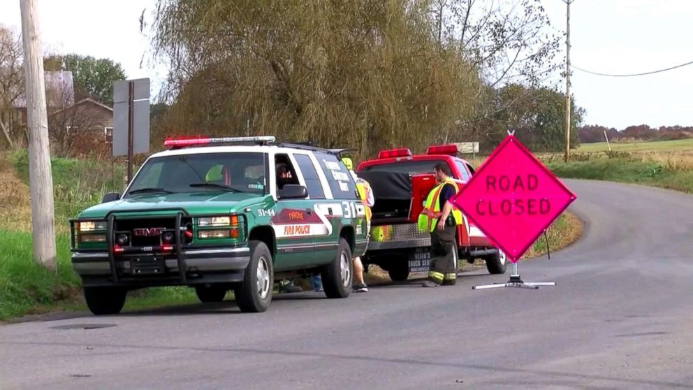 A 7-year-old boy was killed, Nov. 1, 2018, when he was struck by a car at a bus stop in Franklin Township in Huntingdon County, Pennsylvania.