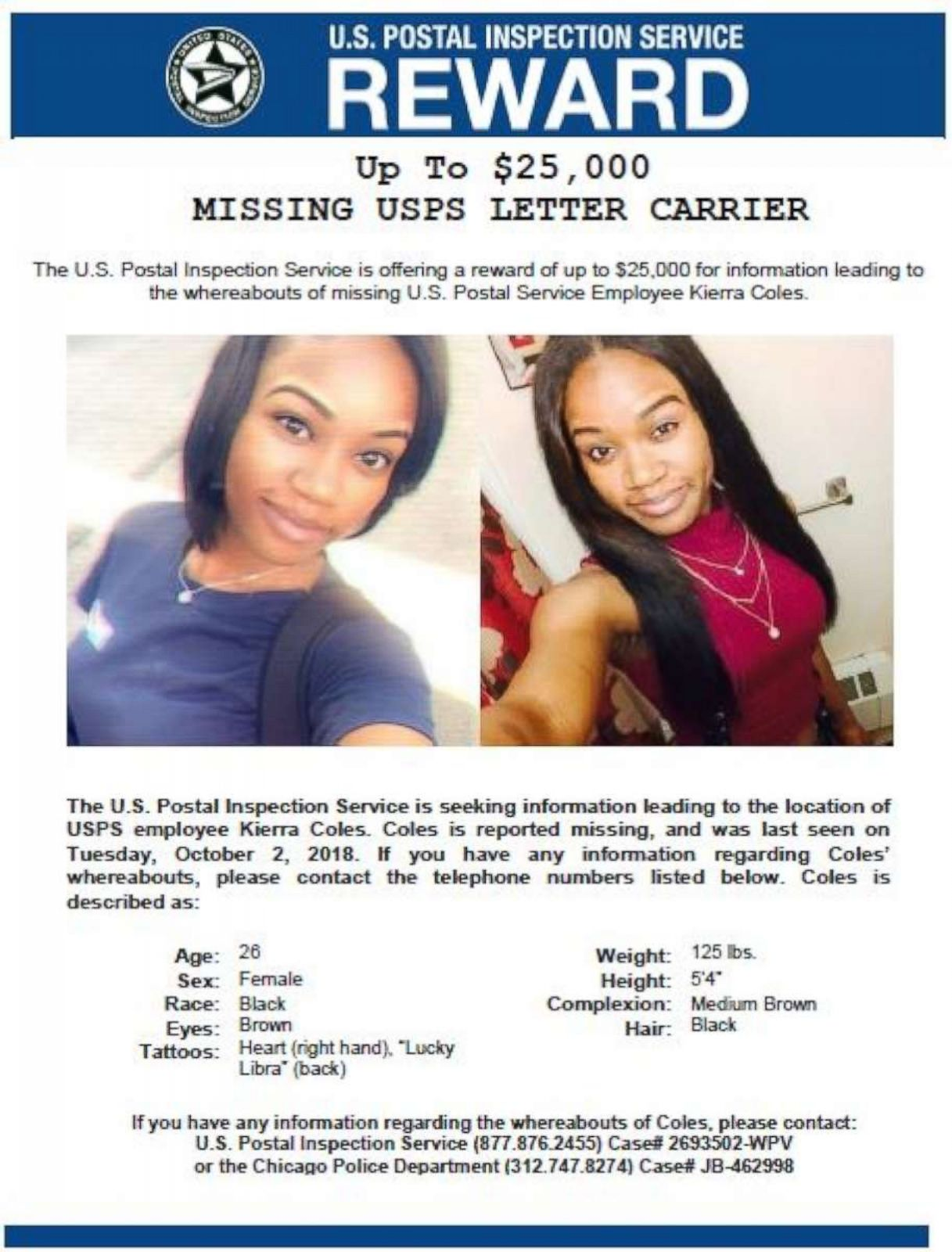 cbfa4d30 The long-missing, pregnant Chicago postal worker was due to give birth last  week - ABC News
