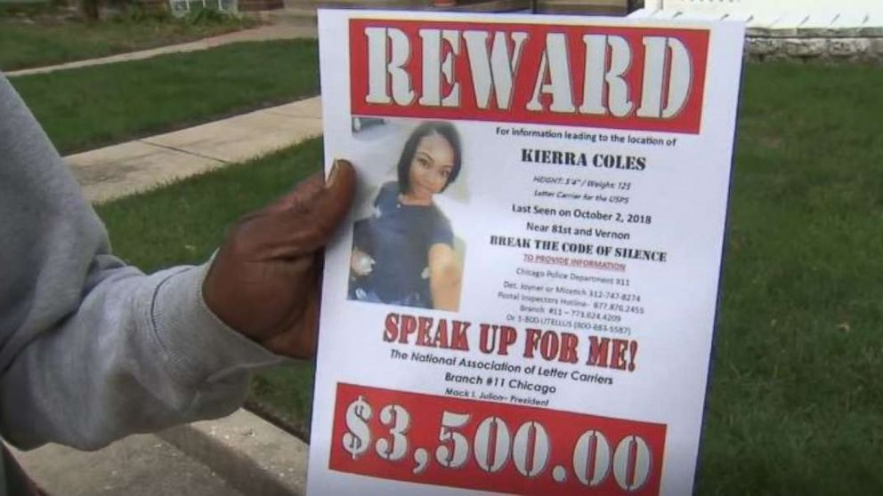 Kierra Coles' father is passing out flyers hoping to find his missing daughter in Chicago. She hasn't been seen since Tuesday, Oct. 2, 2018.