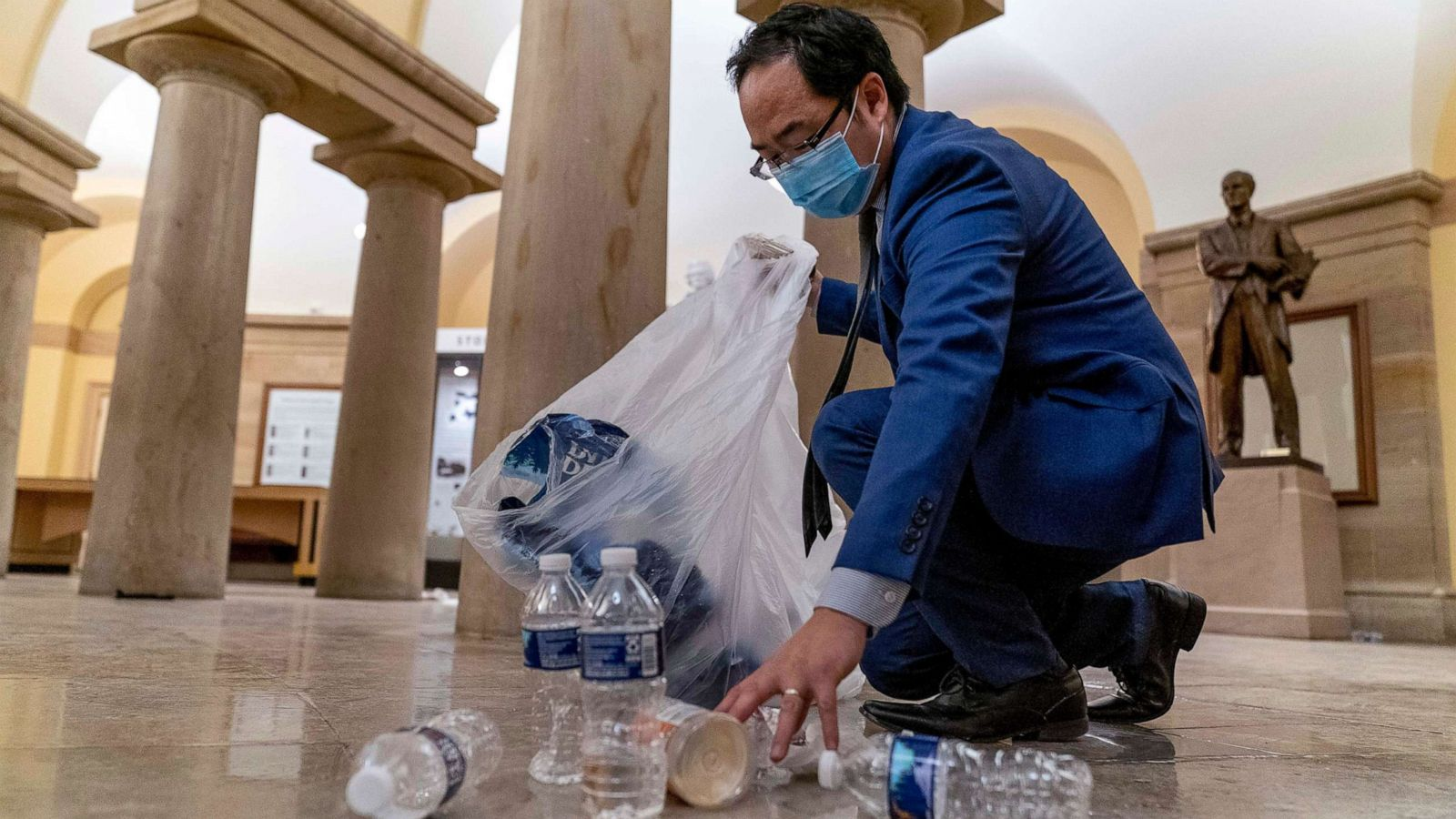 New Jersey Rep. Andy Kim helps clean up Capitol building after breach - ABC News