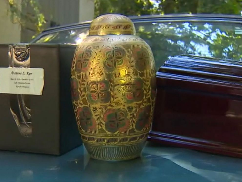 PHOTO: Andrea Davidson of Bonney Lake, Wash. says that when she purchased a used 1997 Geo Tracker at auction, she found inside what appears to be three urns containing human remains and a fourth that looks like it holds a pet.