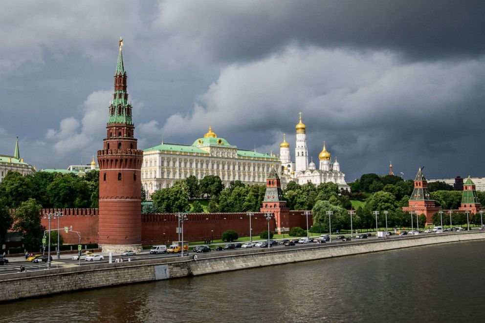 PHOTO: This file photo taken on July 09, 2018, shows the Kremlin in Moscow.