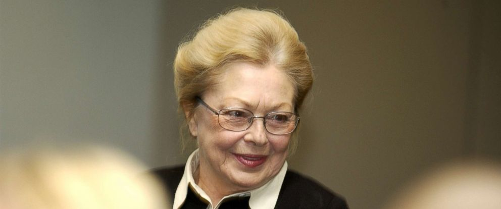 PHOTO: Dr. Mathilde Krim at the World AIDS Day Symposium presented by amfAR and the Mailman School of Public Health, Dec. 3, 2002, in New York.