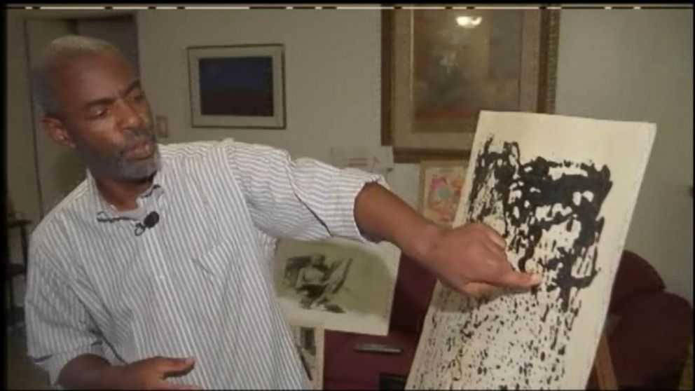 Ray Riley hopes his $90 thrift shop painting is an authentic Sigmar Polke painting worth much more.