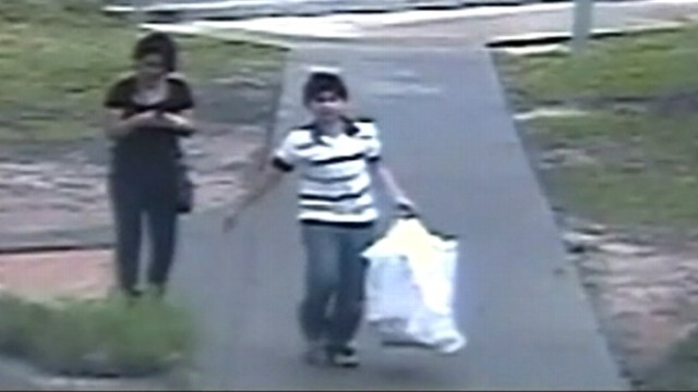 VIDEO: Surveillance video shows boy and teen girl stealing toys from a Texas church.