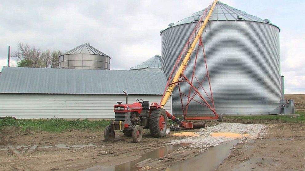 PHOTO: The grain auger where Kurt Kaser got his leg stuck.