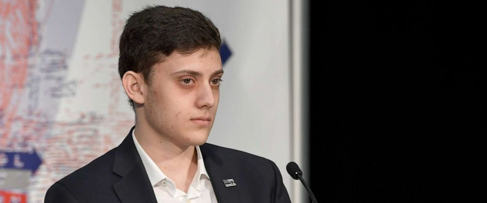 PHOTO: Kyle Kashuv speaks onstage at Politicon 2018 at Los Angeles Convention Center, Oct. 20, 2018, in Los Angeles.
