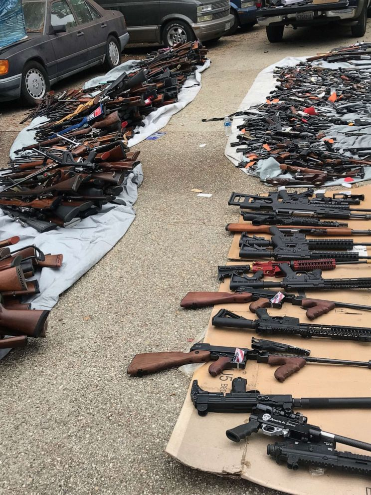 PHOTO: The Los Angeles Police Department removed over a thousand guns from the home of a man in the citys Holmby Hills neighborhood on Wednesday, May 8, 2019.