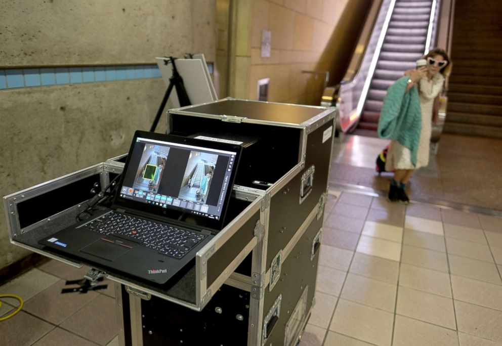 The Thruvision portable, advanced passenger screening technology, will help detect weapons and explosive device security threats on the Los Angeles Metro transit system.