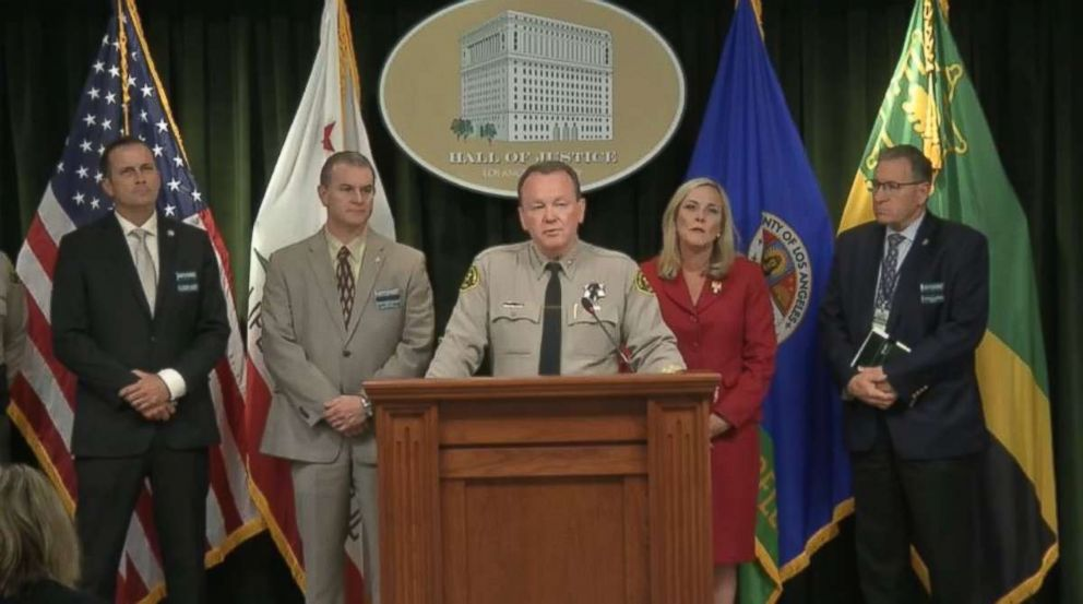 Sheriff Jim McDonnell, Los Angeles County Sheriffs Department, briefed reporters Wednesday, June 27, 2018, on the arrest of Kareem Leiva in the death of a 10-year-old boy in Lancaster, Calif., on June 20, 2018.