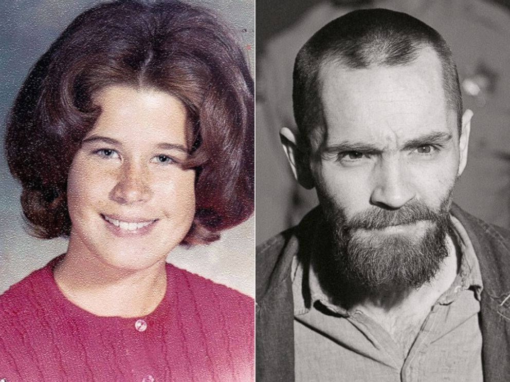 PHOTO: Dianne Lake seen in her school photo, dated 1970, while she was in tenth grade | Convicted murderer Charles Manson shows up to his penalty trial with his long hair cut off, March 4, 1971, Calif.