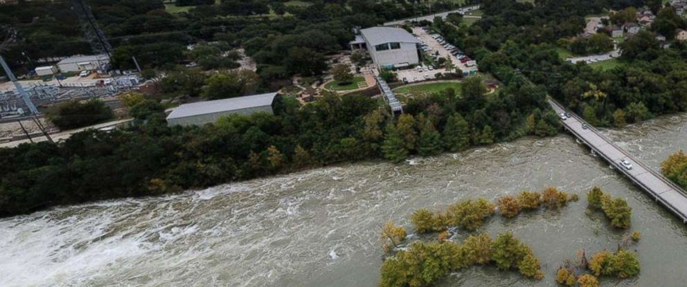PHOTO: Lake Travis, just outside Austin, Texas, is swelling to near-record levels due to heavy rain for the last week.