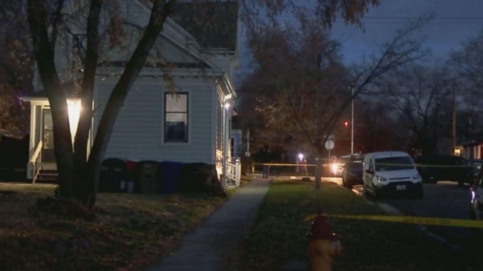 Crime scene tape at the house where the body of David Stokoe, a landlord police believe was shot to death in a dispute over rent was found in Salt Lake City, Utah.