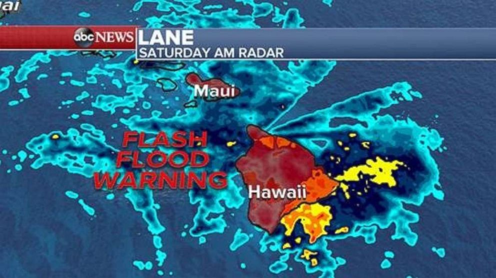 A flash flood warning is in place for the eastern Hawaiian Islands.