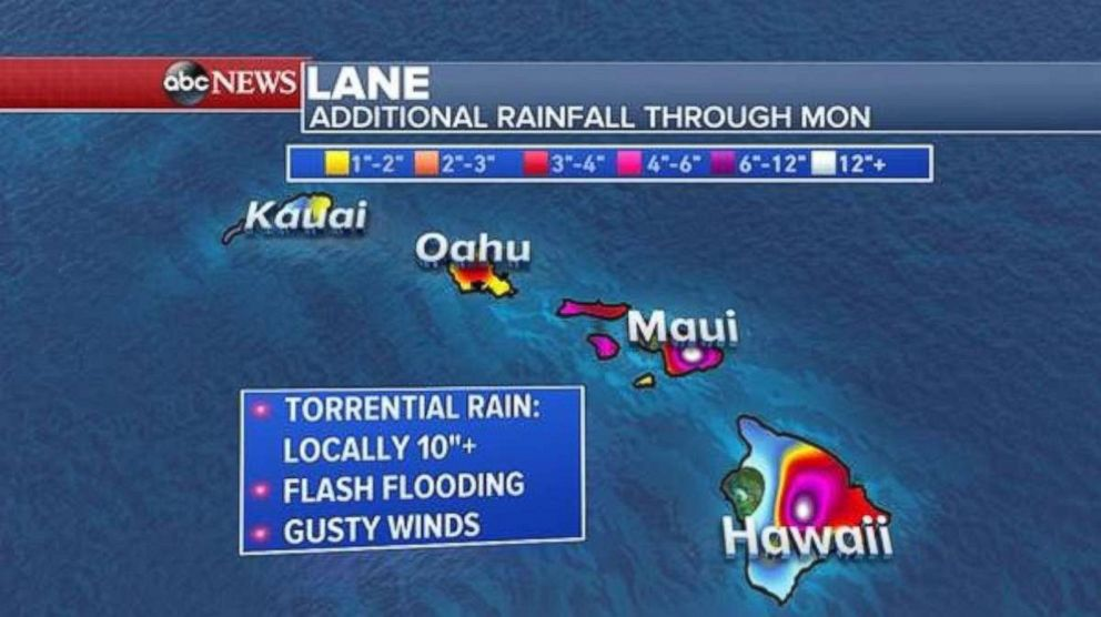More rainfall is on the way for Hawaii, Maui and Oahu.