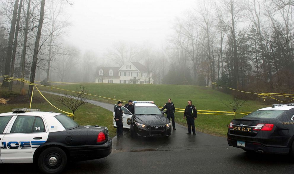 PHOTO: Police outside the home of Nancy Lanza, Dec. 18, 2012, in Newtown, Conn. Nancy Lanza was killed by her son Adam before going on his rampage at Sandy Hook Elementary School, Dec. 14, 2012.