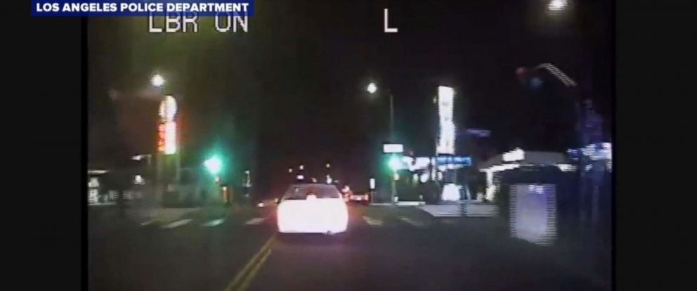 PHOTO: The Los Angeles Police Department released dash camera footage from a police chase that turned violent.