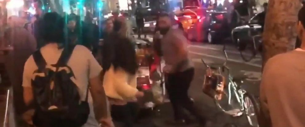 PHOTO: Police are searching for a man who punched two women at a hot dog stand in downtown Los Angeles, Jan. 26, 2019.