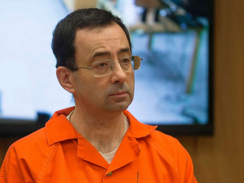 PHOTO: Former Michigan State University and USA Gymnastics doctor Larry Nassar appears in court for his final sentencing phase in Eaton County Circuit Court, Feb. 5, 2018 in Charlotte, Michigan.