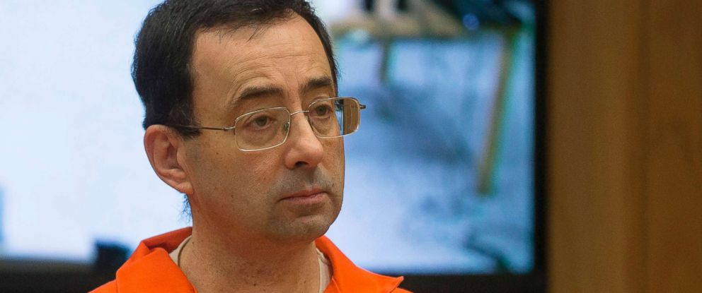 PHOTO: Former Michigan State University and USA Gymnastics doctor Larry Nassar appears in court for his final sentencing phase in Eaton County Circuit Court, Feb. 5, 2018 in Charlotte, Mich.