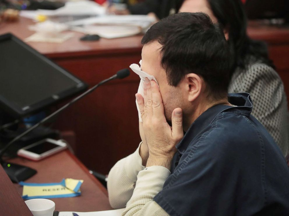 PHOTO: Larry Nassar listens to victim impact statements prior to being sentenced, Jan. 16, 2018, in Lansing, Mich.