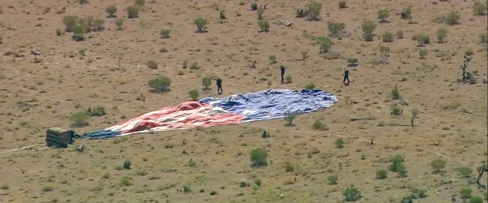 PHOTO: A hot air balloon crash outside Las Vegas, Nevada, Sept. 12, 2019.