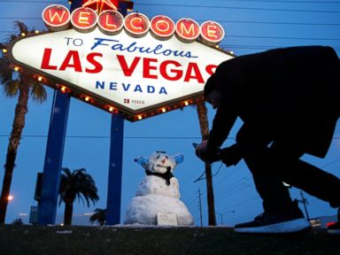 Los Angeles Las Vegas see rare snow storm moves east over weekend
