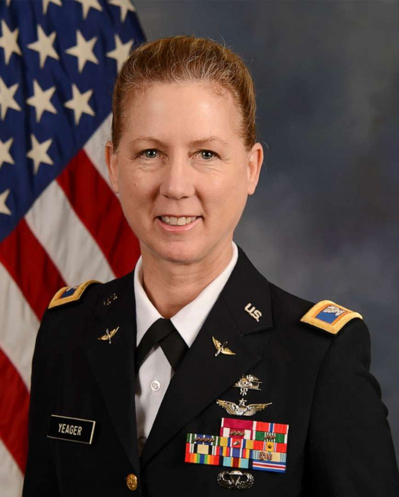 PHOTO: Brig. Gen. Laura Yeager, pictured here as a colonel in 2015, will become the Armys first female infantry division commander. Yeager will assume command of the California Guards 40th Infantry Division on June 29, 2019.