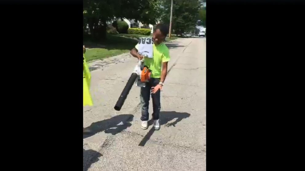 Mr. Reggie's Lawn Cutting Service has received a new lawnmower and new leaf blower from people in the community after neighbors called the police on him for cutting their grass.