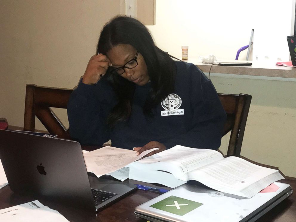 PHOTO: Iesha Champs of Houston said getting through three years of law school was tough. She credited her children, family and colleagues at Thurgood Marshall School of Law at Texas Southern University with helping her.