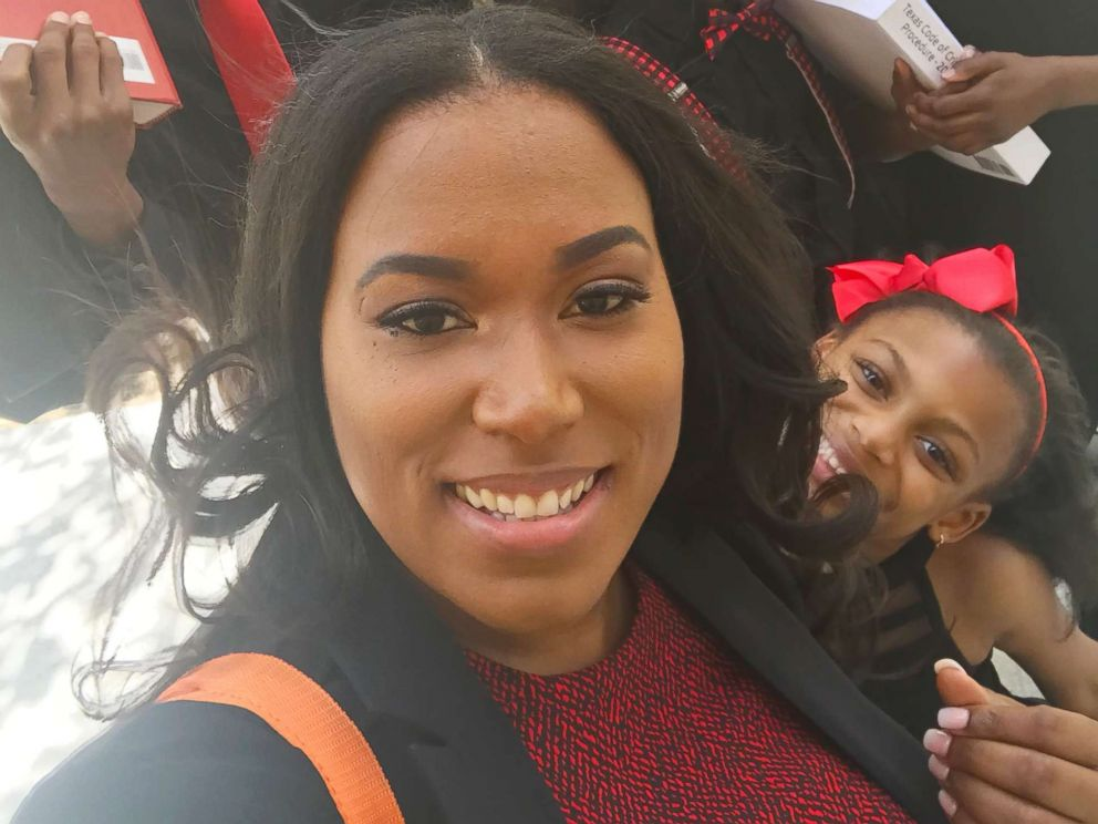 PHOTO: Iesha Champs is seeing a childhood dream come true: She is graduating from law school.
