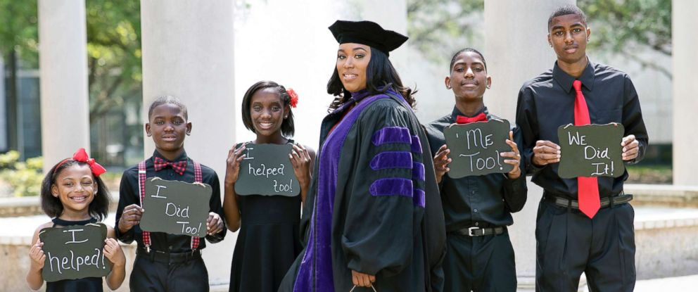 PHOTO: Iesha Champs poses with her children in this undated photo.