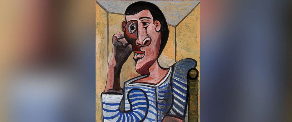 "PHOTO: The New York auction house announced that someone had ""accidentally damaged"" a painting by Pablo Picasso, ""Le Marin"" as final preparations were being made for an exhibition of the work set to be sold on May 15, 2018."