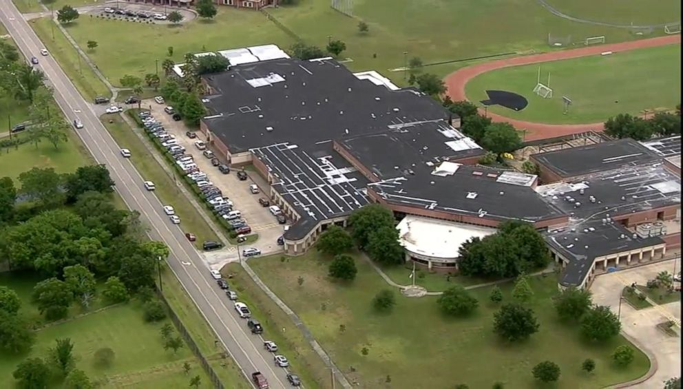 PHOTO: League City Intermediate School in League City, Texas, is pictured in an image made from aerial video on May 21, 2018.