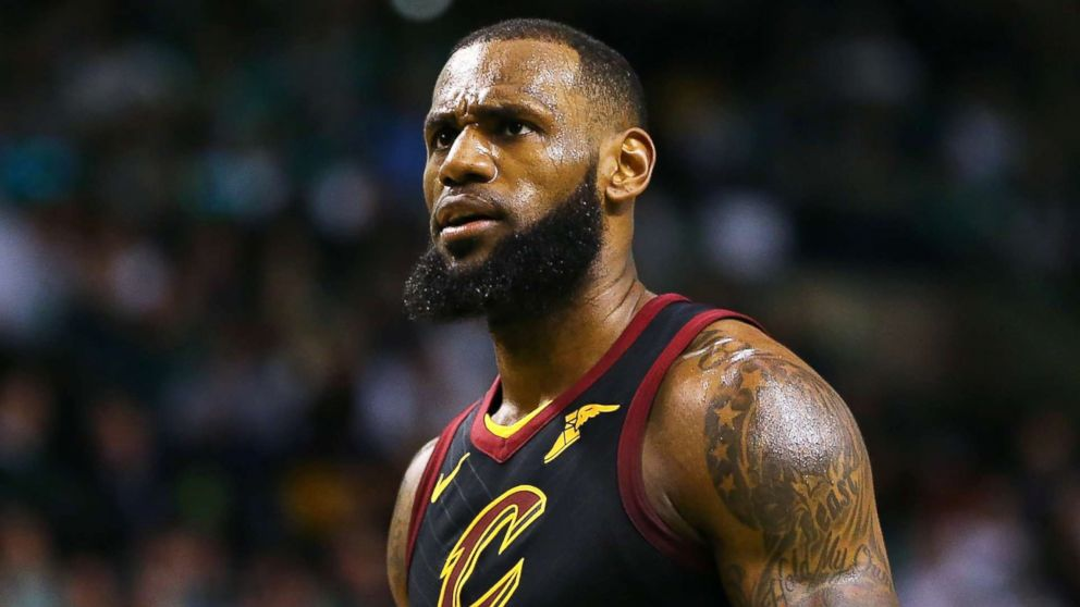 Lebron James  23 of the Cleveland Cavaliers reacts in the second half  during a game 6ce8701c8