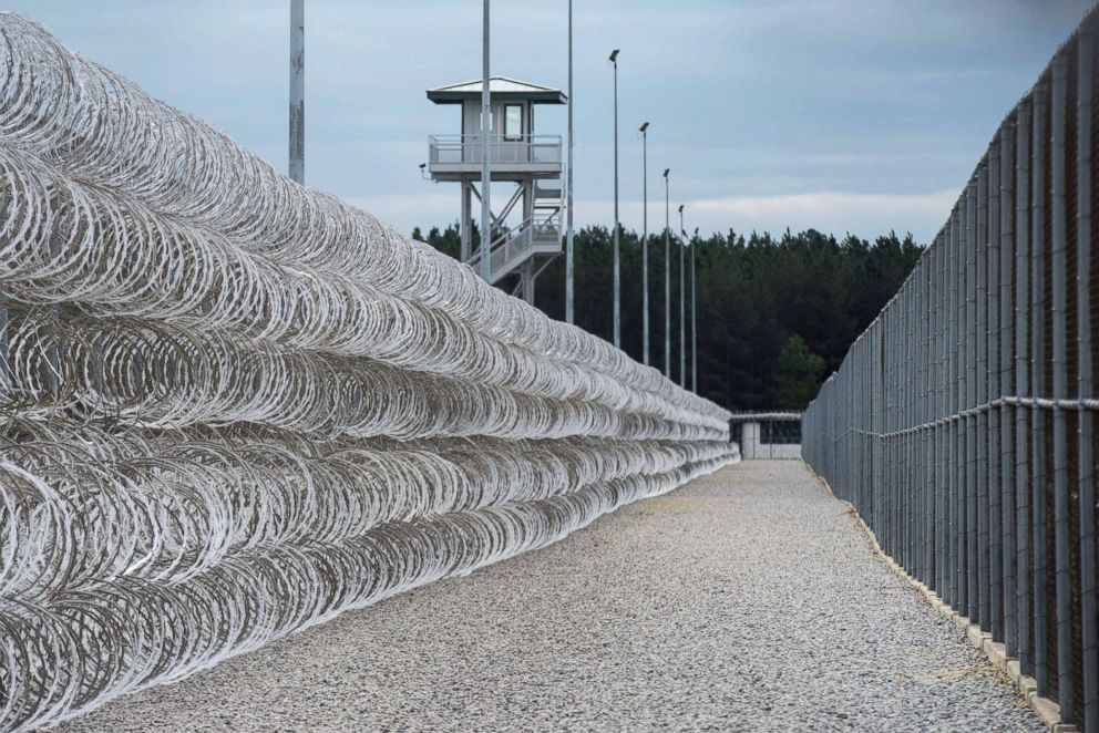 PHOTO: Razor wire protects a perimeter of the Lee Correctional Institution in Bishopville, S.C., in this Feb. 9, 2016.