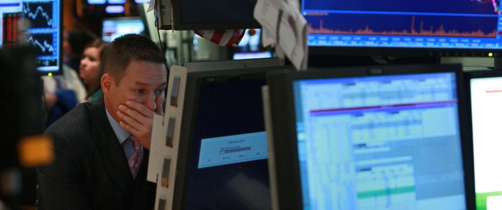 PHOTO: A trader works on the floor of the New York Stock Exchange Sept. 15, 2008 in New York City.
