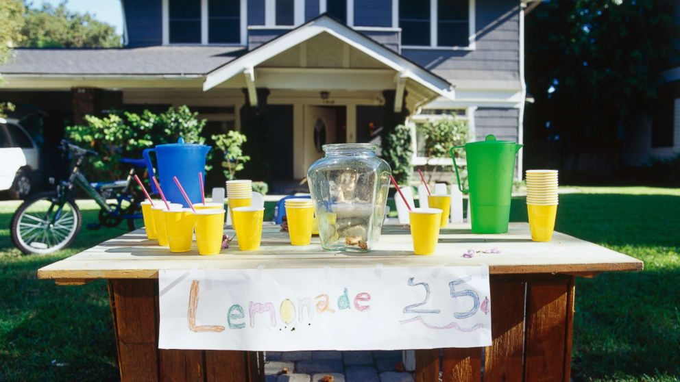 A lemonade stand appears in this undated stock photo.