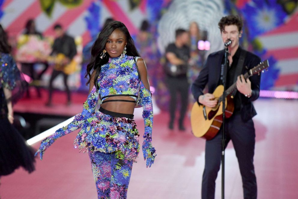 PHOTO: Leomie Anderson walks the runway at the 2018 Victorias Secret Fashion Show at Pier 94, Nov. 8, 2018, in New York City.