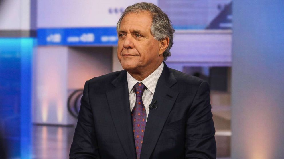 "Leslie ""Les"" Moonves, president and chief executive officer of CBS Corp., listens during a Bloomberg Television interview in New York City, Oct. 14, 2015."